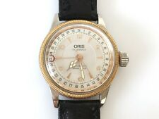 Oris Automatic 17 Jewel 7400 Watch Made In Switzerland With Black Lizard Band