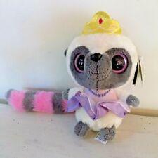 YooHoo & Friends Aurora World Princess Plush Lemur Pink White Gray Yellow Crown