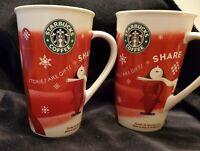 Starbucks Holiday Tall Coffee Mug 2010 'Stories are Gifts - Share' Bone China