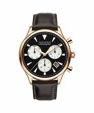 New Movado Heritage Series Calendoplan Brown Leather Strap Mens Watch 3650021