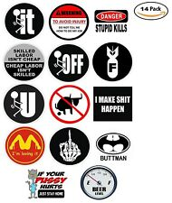 Funny Hard Hat Stickers BEST SELLER 14 Decal Value Pack. USA Made from H&E Deals