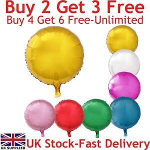 """18"""" Round Foil Balloons For Party Wedding Birthday Float With Helium UK"""