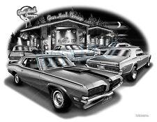 MERCURY COUGAR,1970,1969,1967,1968 MUSCLE CAR ART PRINT #7403