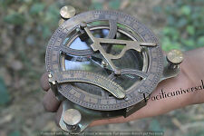 """ANTIQUE MARITIME SUNDIAL COMPASS 4""""  REPRODUCTION CHRISTMAS BEST GIFT ITEM."""