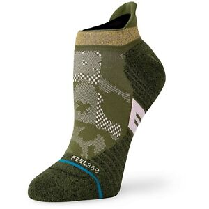 NWT Stance Mens Cyling Socks Green Tab Height Large 9-13 Infiknit Light Cushion