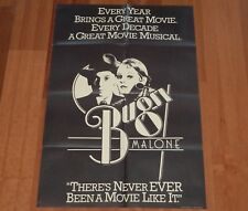 """ORIGINAL MOVIE POSTER """"BUGSY MALONE"""" 1976 ENGLISH FOLDED ONE SHEET JODIE FOSTER"""