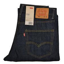 Levi's Mens 550 Relaxed Fit Jeans 31w X 30l 30 Tumbled Rigid