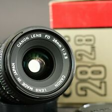 near mint CANON FD 28mm f2.8 - boxed lens made in Japan