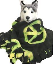 GREEN PEACE, Fuzee Fleece Dog Blankets,Soft Pet Blanket Travel Throw Cover