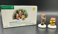 Department 56, North Pole Series, Photo With Santa, #56444, Missing 1 Figurine