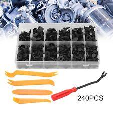 240Pcs Car Retainer Clips Auto Fasteners Push Trim Clips Pin Rivet Bumper Kit