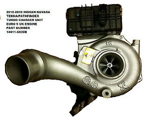 2010-2015 NISSAN NAVARA D40 2.5 DCi EURO 5 ENGINE TURBO CHARGER UNIT 14411 5X30B