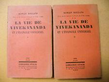 ROMAIN ROLLAND LA VIE DE VIVEKANANDA INDE MYSTIQUE PHILOSOPHIE STOCK 1930 2 VOL.