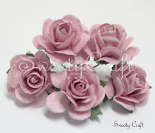 10 Light Pink Mulberry Paper Rose Flower handmade size 2.5 cm. card SW022