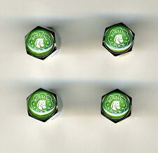 Rolling Rock 4 Chrome Plated Brass Tire Valve Caps Car/Bike  Rolling Rock