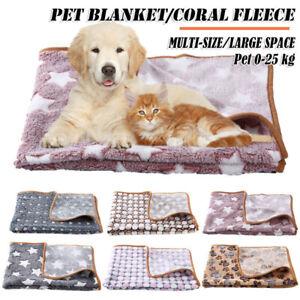 Winter Soft Fleece Pad Pet Blanket Flannel Pet Bed Mat Puppy Warm Sleep Mat au