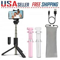 Selfie Stick Tripod Bluetooth Wireless Remote Control 360° Rotation Extendable