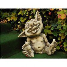 "PICCOLI TROLL "" Justus "" giardino resistente al freddo STATUA GRANIGLIE gnomo"