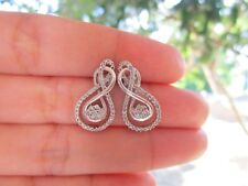 1.01 Carat Diamond White Gold Earrings 10K sepvergara