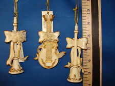 Musical Instrument Ornament set of 3 Ceramic Made By Roman  69732  25