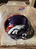 *RARE Limited Edition* Denver Broncos Chrome Riddell Mini Helmet /2000