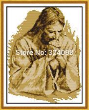 NUOVO con confezione JOY DOMENICA Gesù a pregare PUNTO CROCE KIT 14 KT 26 x 35 cm