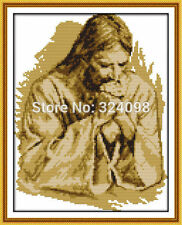 BNIP Joy Sunday Jesus Praying Cross Stitch Kit 14ct 26 x 35cm