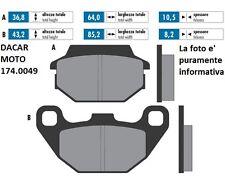 174.0049 PASTILLA DE FRENO ORIGINAL POLINI KYMCO SUPER 8 125 - SUPER 9 50