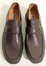 11e9e08bb26 Haband Executive Division Brown Leather Loafer Dress Shoe Slip-on Size 12EEE