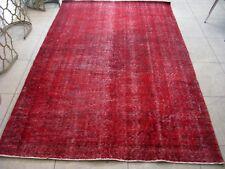 Großer Teppich VINTAGE Retro gealtert rot 160x260 cm TÜRKEI