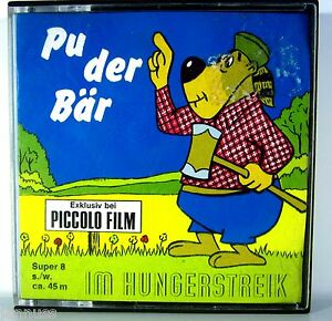 Pu der Bär Im Hungerstreik Piccolo Super 8 Film s./w. ca. 45m Rarität