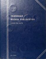 Canada Five Cents 30 in Blue Folder Starter Set Old Obsolete Coins 1923 -1960