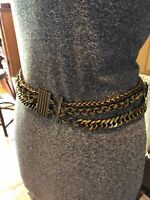 Vintage Heavy Chain Brass Belt Awesome Piece