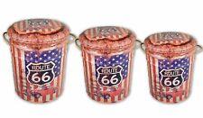 USA Route 66 America Vintage Retro Storage Stool Padded Display Seat Bin Gift
