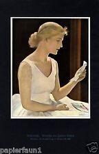 Balletteuse Kunstdruck von 1928 Johann Schult Ballett Tänzerin Primaballerina +