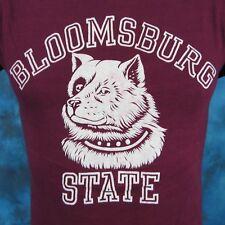 vintage 80s BLOOMSBURY STATE HUSKIES T-Shirt XXS university pennsylvania thin