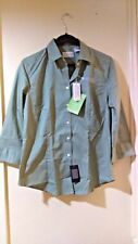 Van Heusen Amsted Rail Ladies' 3/4-Sleeve Button Down Shirt Large