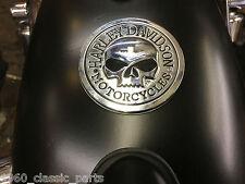 Metal Skull Tank / Panel Fender Badge Emblem For Harley Davidson Dyna Sportster