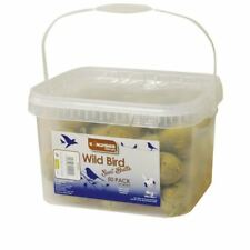 50x FAT SUET BALLS FOR ALL GARDEN BIRD FEEDERS BIRD FEED (NO NET) RESEALABLE TUB