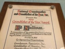 ED SULLIVAN GRANDFATHER OF THE YEAR AWARD 1956 2 WEEKS BEFORE ELVIS'S APPEARANCE