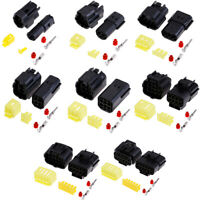 1 set 1/2/3/4/6/8/10/12 Pin Way Waterproof Wire Connector Plug Car connectors JF