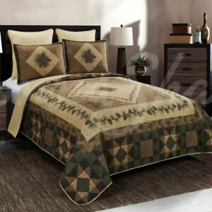 DONNA SHARP ANTIQUE PINE PATCHWORK LOOK RUSTIC LODGE CABIN QUILT COLLECTION