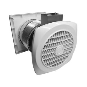 BV 70 CFM 4.0 Sone Home Through-The-Wall Ventilator Exhaust Fan w/ Louver 6 in