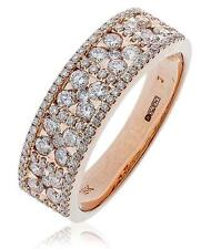 Diamond Wedding Eternity Ring 0.90ct F VS Brilliant Cut 18ct Rose Gold 6mm Wide