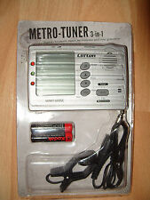 WMT-555C - Tuner chromatic and Metronome MUSIC INTRUMENTS METRO TUNER 3 IN 1