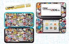 STICKER BOMB - vinyl Skin Aufkleber für Nintendo NEW 2DS XL - réf 191