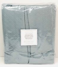 Restoration Hardware Vintage-Washed Diamond Matelasse Bed Skirt Full Pacific