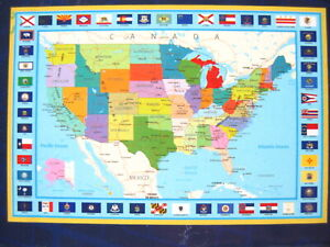 United States Map Educational 300 Piece Jigsaw Puzzle 30 x 20 in NEW