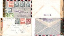 CHILE 2 x 1940'S CORREO AEREO CENSOR MAIL TO USA (JF-F)