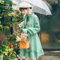 Womens Sweet Fresh Girls Mori Girl Flare Sleeve Princess Bowknot Lolita Dresses